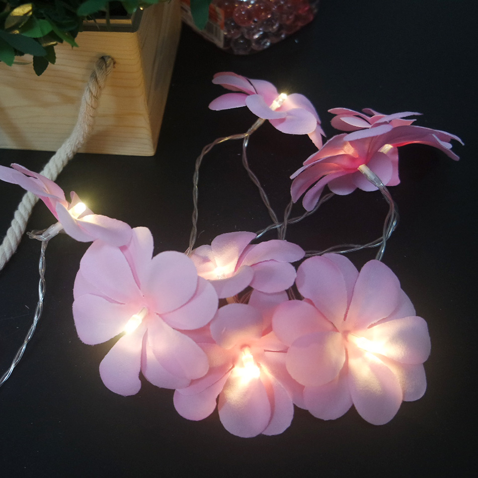 Holiday Floral LED String Lights 10leds 1.5Meter By AA Battery, Kids Room Flower/Christmas Decor. Event Party/New Year Supplies