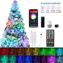 Natal led string luz rgb luz de fadas usb wifi bluetooth controle remoto para alexa/google casa decoração natal casa