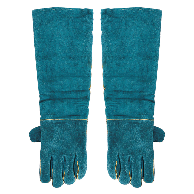 Anti-bite Glove For Animal Pet Training Feeding Pets Grasping Biting Protective Glovess Long Thick Leather Safety Gloves