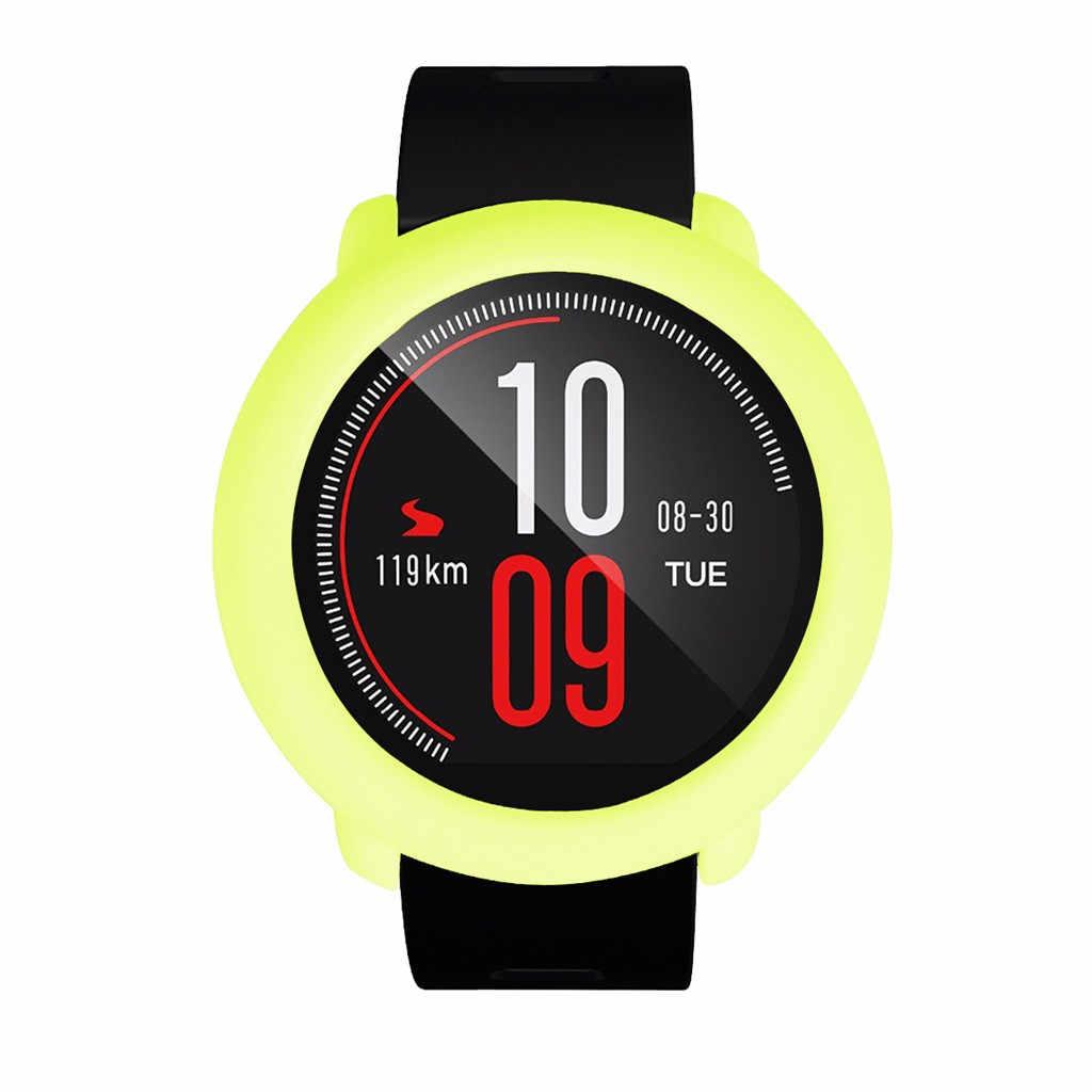 Funda completa de TPU blanda antiarañazos de repuesto, carcasa protectora de silicona para reloj inteligente Xiaomi Huami AMAZFIT Pace
