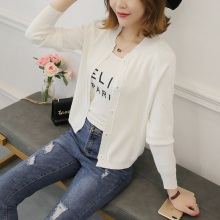 2021 early spring girl with a shawl cardigan knitting coat han edition wind loose long-sleeved sweater college joker
