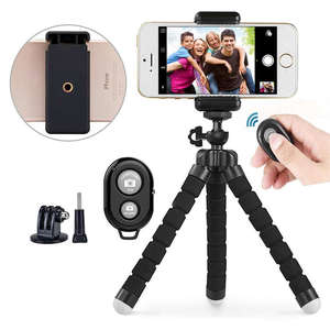 Image 3 - Phone Tripod, Portable And Adjustable Camera Stand Holder With Wireless Remote And Universal Clip For Iphone, Android Phone, Cam