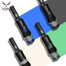 Paraguas de princesa automática de alta calidad para mujer, sombrilla de tres pliegues, ultraligera con recubrimiento negro