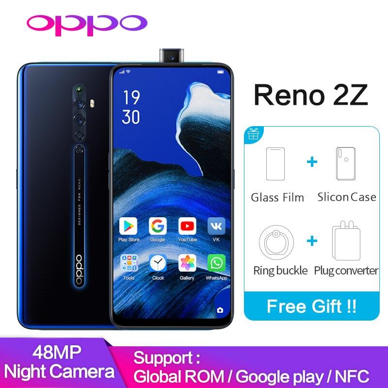 OPPO Reno2 Z 8GB 128GB Support Google Play Global ROM NFC 10x Zoom 48MP 4 Camera  VOOC 3.0 Mobile Phone Reno 2 Z Smartphone