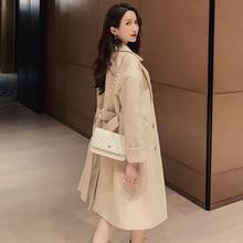 Long Coat Woolen Bleads Autumn Winter Women Sashes Belted Overcoat Fashion Outwear