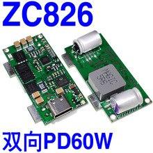 새로운 zc826 양방향 pd 모바일 전원 diy 차량용 충전기 60 w 전체 프로토콜 회로 기판 t1000 터미네이터 아이언 맨 x