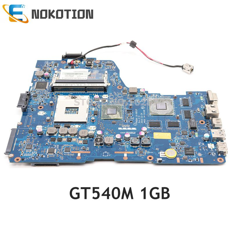 NOKOTION Laptop Motherboard For TOSHIBA Satellite A665 P750 P755 MAIN BOARD K000125710 PHQAA LA-6831P HM65 DDR3 GT540M 1GB