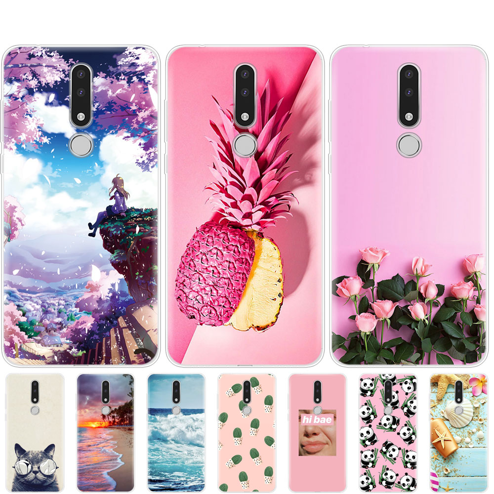 For <font><b>Nokia</b></font> <font><b>3.1</b></font> <font><b>Plus</b></font> Case bumper Painted Silicone Soft TPU Back Cover Nokia3.1 For <font><b>Nokia</b></font> <font><b>3.1</b></font> <font><b>Plus</b></font> 2018 Phone Case protective coque image