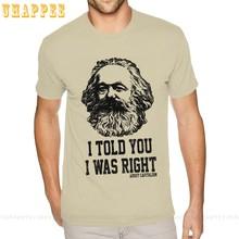 T-shirt en coton pour garçon 5xl, vêtement masculin, avec imprimé du magicien, du Marx et du capitalisme