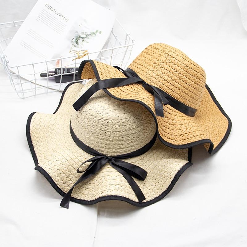 Women's Straw Hat New Beach Cap Holiday Round Sun Cap  Beach Travel  WildSun  Beach Vacation Hat
