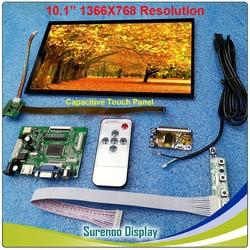 10.1 1366*768 مقاوم بالسعة وحدة LCD رصد شاشة عرض لوحة اللمس مع HDMI VGA AV مجلس