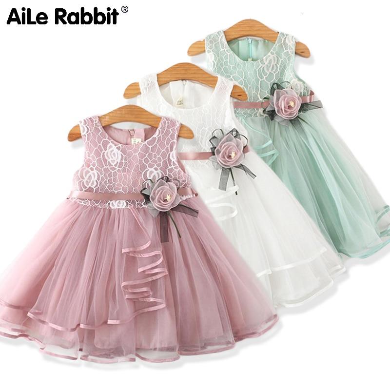 2020 New Kids Clothes Dresses For Girls Fashion Wedding Dress Girl Princess Dress Children's Wear Party Star Dress 2