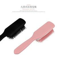[Four Colors Selectable] Dull Polish Handfeel South Korea Pink Cute Girl'S Long Hair Nine Rows of Curly Hair Ribs Comb