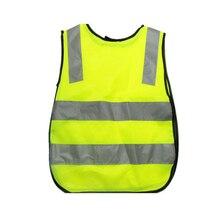 Детский жилет для безопасности на дорогах, желтый Видимый жилет для детей
