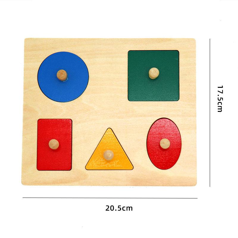 Kids Wooden Montessori Toys Memory Match Stick Educational Color Cognitive Geometric Shape Puzzles Toys For Children 37
