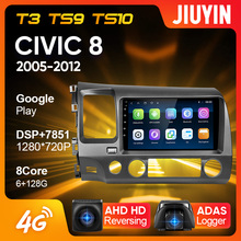 JIUYIN Type C Car Radio Multimedia Video Player Navigation For Honda Civic 8 FK FN FD 2005 - 2012 Android No 2din 2 din dvd