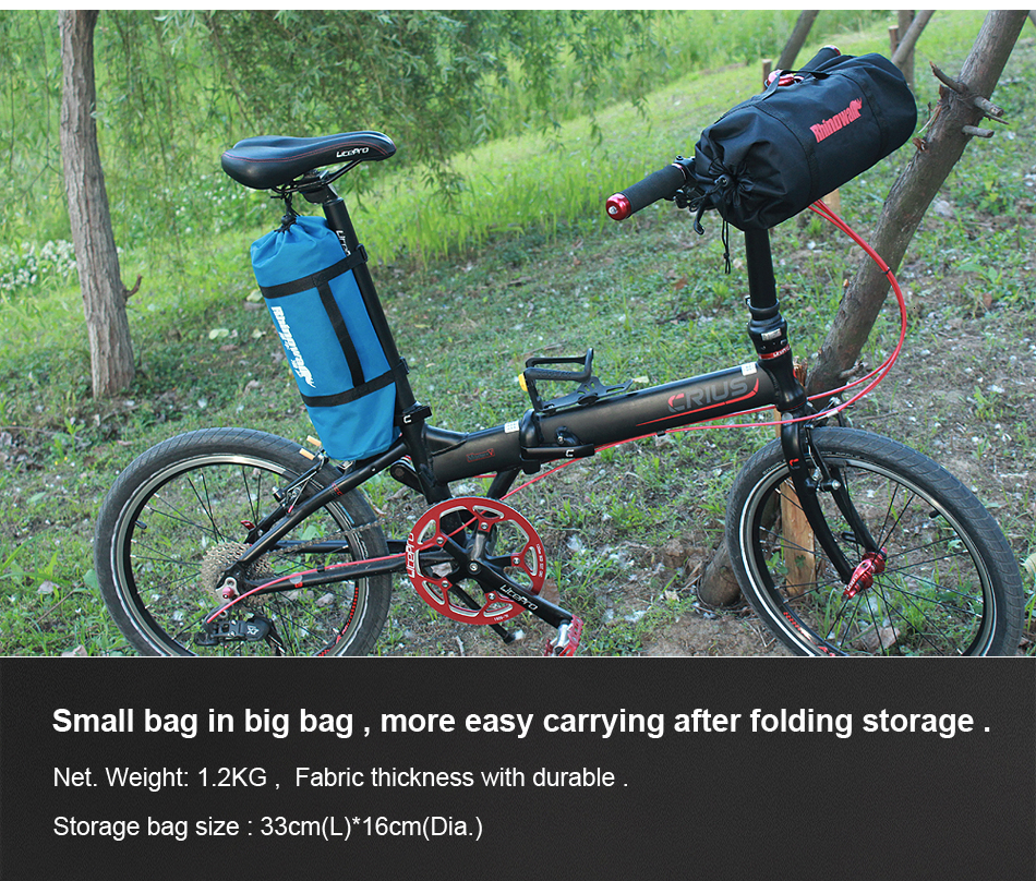 Perfect Rhinowalk 14 inch 20 inch Folding Bike Bag Loading Vehicle Carrying Bag Pouch Packed Car Thickened Portable Bicycle Pack 23