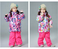 Children's Ski Clothing Suits Boys and Girls Thickened Warmth and Waterproof Winter Outdoor Jackets and Pants Ski Equipment