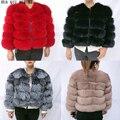 Женская зимняя куртка с натуральным мехом, шуба из лисьего меха, шуба из натурального меха, качественная шуба из натурального Лисьего меха, ...