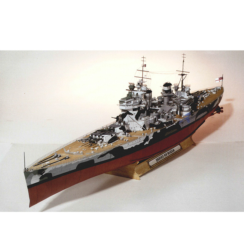83CM UK Wales Prince Battleship Warship DIY 3D Paper Card Model Building Sets Construction Toys Educational Toys Military Model