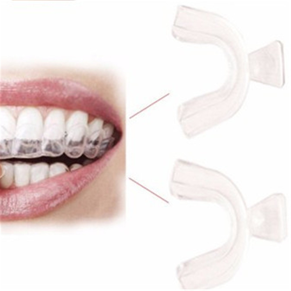 2Pcs Food Grade Silicone Orthodontic Teeth Braces Transparent Teeth Whitening Beauty Tools Fit False Teeth Tray Oral Hygiene