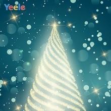 Yeele Christmas Photocall Lantern Tree Bokeh Lights Photography Backdrops Personalized Photographic Background For Photo Studio allenjoy photographic background candle cabinet book lantern christmas photographic background for study photo background