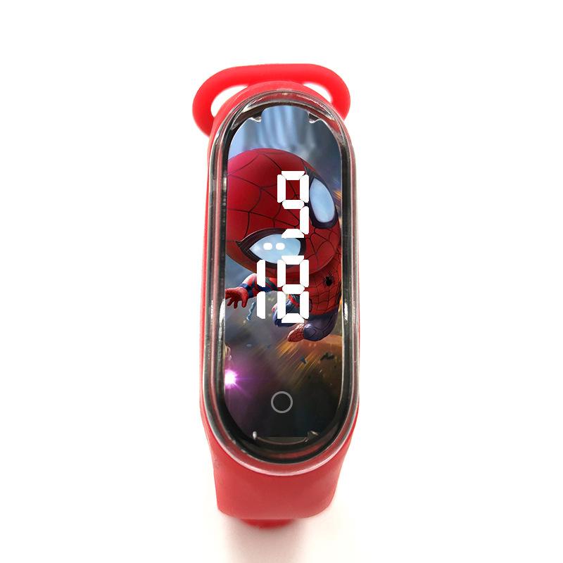 Disney Spider-Man Children\'s Watch Iron Man Luminous Bracelet Watch Touch Student Children\'s Sports LED Watch Birthday Gifts