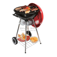 17 inch Round Four Legs With Cover Charcoal Grill Barbecue Tray BBQ Grill Charcoal Grill Mini New Type Tooking Grid