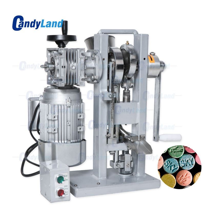 CandyLand THDP-3 Single Punch Sugar Tablet Press PDie Machine Pressing Machine Motor Driven And Handle Candy Stamping Pill Maker