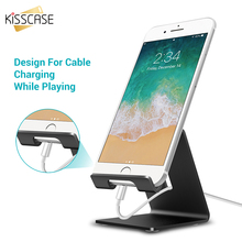 KISSCASE Aluminum Metal Phone Stand Holder For iPhone XS Max XR XS X 8 7 6 Tablet Desk Phone Holder Stand For Smartphone Support