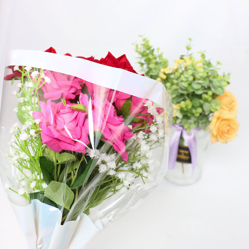 20pcs Translucent Flower Wrapping Paper Waterproof OPP Matte Bouquet Wrapping Paper in Craft Paper from Home Garden