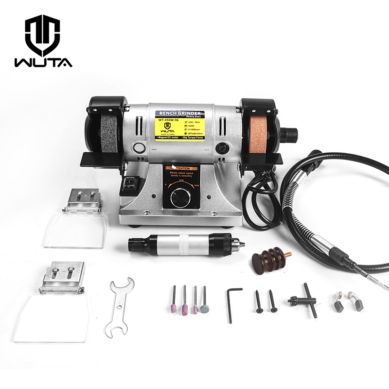 WUTA Leather Edge Burnishing Grinding Machine Craft Tool Chisel Knife Polishing Machine 450W Metal,Steel,Wood Polisher Sharpener