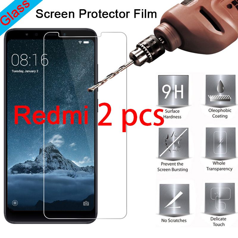 Screen-Protector Phone Xiaomi Redmi 9H for 7-6/4/3-pro/Toughed Glass Hard 3x3s/S2/2 2pcs