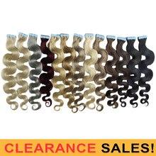 Mrshair лента для наращивания волос 100% человеческие волосы наращивание тела волнистые ленты Ins не Реми кожа уточка бесшовные Цветные #2 серебря...