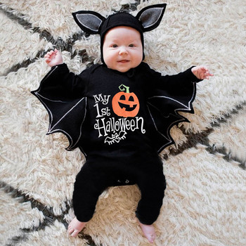 Autumn Newborn Halloween Costume For Baby Boys Girls Clothes Halloween Cosplay Costume Romper Jumpsuits+hat Halloween Outfits