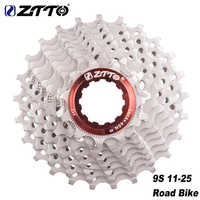 ZTTO Road Bicycle Freewheel 8 9 10 11 Speed Cassette 11-25t 11-28t Bike Sprockets Compatible For Sunrace Shimano HG System
