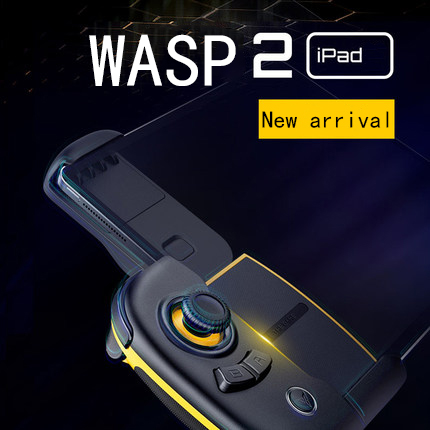 Flydigi Wasp2 iPad/Tablet pubg mobile game controller mobile Bluetooth gamepad bee sting trigger for Android/ios system(China)