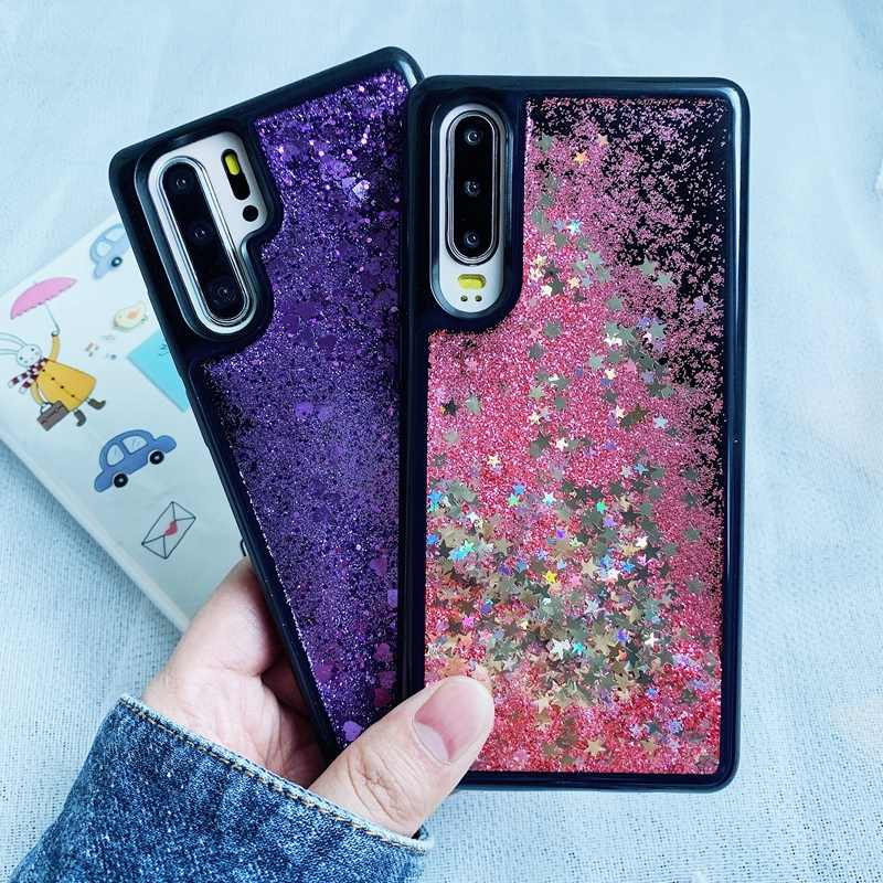 Glitter Liquid Quicksand Soft TPU Phone Case For Huawei P30 P20 Mate 20 Pro Nova 3 Honor 8 8A 8X 9 10 10i 20 20i Lite Pro Cover