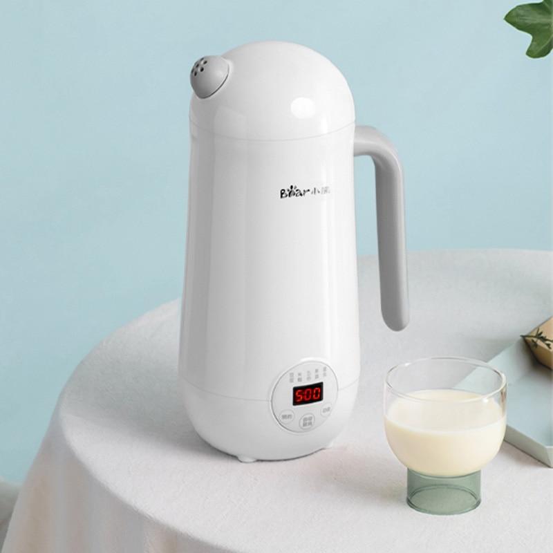 220V Mini Soymilk Machine Portable Soy Milk Rice Paste Maker Electric Juicer Blender Food Grinding Heating Processor 350ml