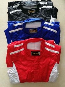 Image 5 - Costume de course de voiture, quatre couleurs, double couche, coupe vent, costume de course pour kart, pour motocycliste
