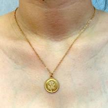 Женское ожерелье с подвеской flatfoosie модное резное золотого