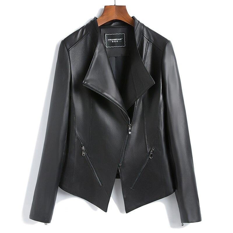 Genuine Leather Jacket Women Short Slim Real Sheepskin Coats Female Spring Autumn Korean Clothes Montone Jacket LWL1468