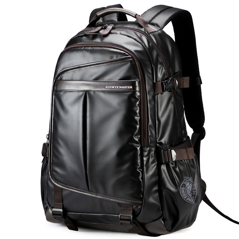 Waterproof Laptop Backpack High Grade Men's Multifunction Business Waterproof Travel Bag Synthetic Leather Computer Packsack|Backpacks| - AliExpress