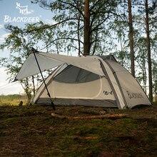 خيمة على الظهر للتخييم في الهواء الطلق من بلاك دير بطبقة مزدوجة مقاومة للماء من سبائك الألومنيوم والقطب والصيد والصيد والمغامرة والحفلات العائلية
