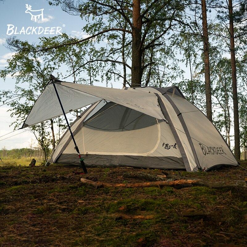 BLACKDEER Camping en plein air sac à dos tente Double couche résistant à l'eau en alliage d'aluminium pôle pêche chasse aventure famille fête