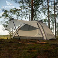 BLACKDEER al aire libre Camping mochila tienda doble capa resistente al agua aleación de aluminio Polo pesca caza aventura familia fiesta