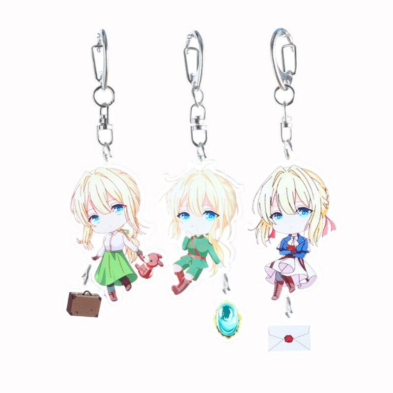 Japanese Anime Violet Evergarden Claudia Hodgins Cosplay Acrylic Keychain Keyring Pendant Bag Phone Pendant Gifts