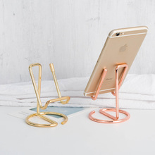 Stand Desk-Holders Tablet Rose-Gold Phone/ipad for 7/6-Plus Samsung Metal 2pcs