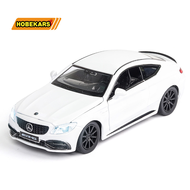 RMZ Diecasts & Toy Vehicles C63S Sport-car 1:32 Model Car Metal Alloy Simulation Pull Back Toys For Kids Gifts For Children