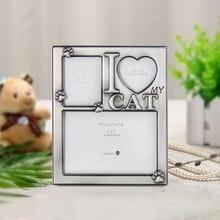 LASODY Pet Photo Frame animale Souvenir regalo squisito argento cornici 2020 regalo di natale crescita Souvenir lega creativa C